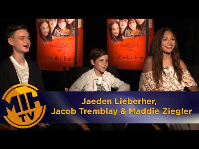 2017 Интервью Джейдена Джейкоба Тремблея и Мэдди Зиглер в рамках промоушена фильма Книга Генри