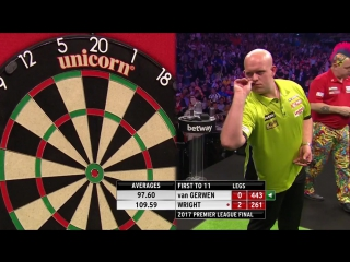 Michael van Gerwen vs Peter Wright (2017 Premier League Darts / Final)