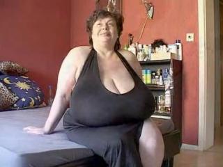 Super fat granny showing her super huge tits