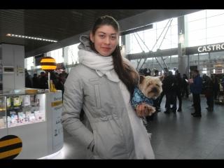 Анастасия Кочержова прилетела в Иркутск