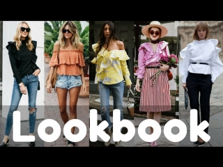 Summer ruffle blouse outfit ideas trends 2018 summer fashion lookbook