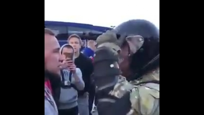 Украина: Ультрас зачмырил толпу полицейского спецназа