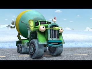 🚚 ТРАКТАУН - Бетономешалки! Зимний мультик про машинки и грузовики для детей