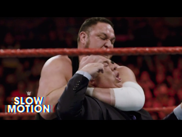 Chilling slow motion footage of Samoa Joe and Paul Heyman's confrontation Exclusive June 6 2017