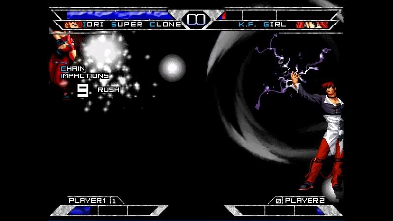 [KOF WOJ]Iori Super Clone VS K.F Girl