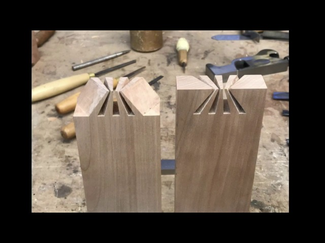Amazing Japanese dovetail joint. Japanese joinery.