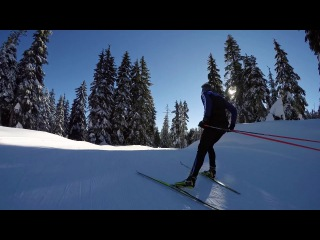 GoPro: XC Skiing Downhill Session
