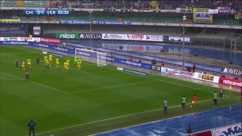 Кь ево Ве рона Ch ievo Ve rona 3 2 Обзор матча Футбол Чемпионат Италии 9 Тур 22 10 2017