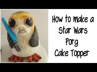 How to make a Star Wars Porg cake topper out of fondant (tutorial)