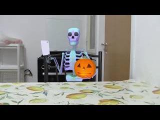 Halloween  skeletons attack  horror   song music