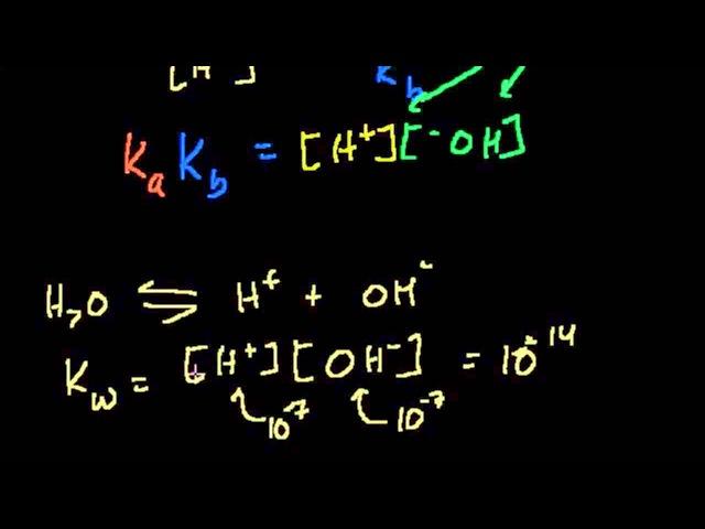 Взаимосвязь между pKa и pKb (видео 6) | Кислоты и Основания | Химия