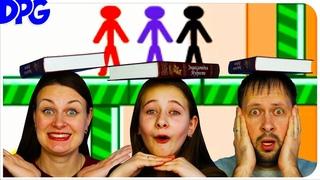 Игры на троих с книжкой на голове Приключения Стикмена Stick Men Collect Bean 2 #2 Человечки и бобы