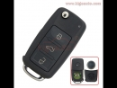 3D0 959 753 AA Remote key 3 button 434Mhz ID46–PCF7946 for Volkswagen Touareg 3D0959753AA