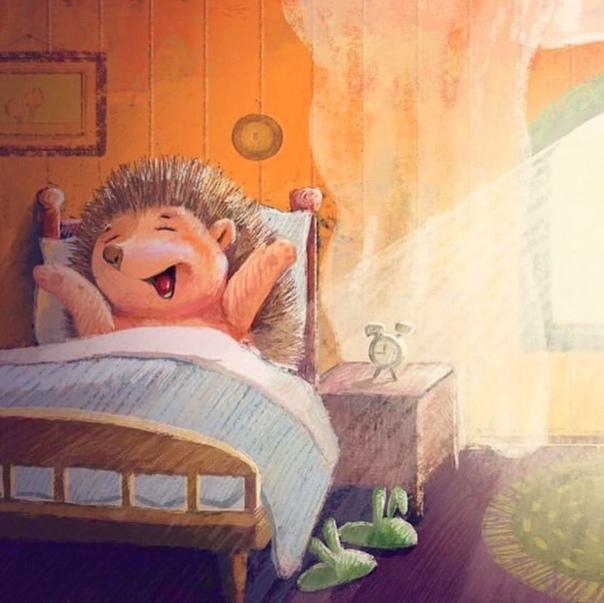 Смешная открытка проспала