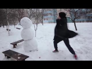 Как отпздить снеговика!!! Ахаха! Смешные видео 2016! Короткие видео приколы 2016! Юмор! Угар! Ржач!_().mp4