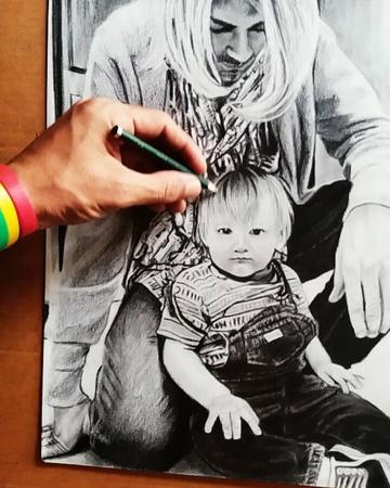 """MAKE ART NOT WAR on Instagram: """"art drawings pencil sketchbook YANG TERLIHAT MEWAH BELUM TENTU BAHAGIA drawingartists nirvana kurtdonaldcob..."""