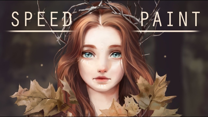 Speed paint- Daughter of the woods- Paint tool sai- Lulybot