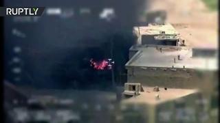 Беспилотник заснял нападение на афганских военных после обстрела Кабула