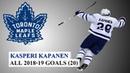 Kasperi Kapanen 24 All 20 Goals of the 2018 19 NHL Season