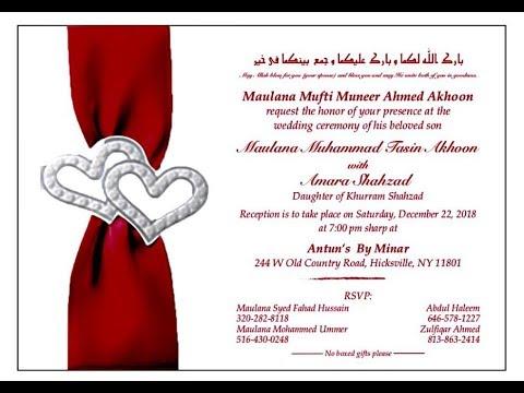 Live Wedding Ceremony of Maulana Muhammad Tasin Akhoon Son of Hazrat Maulana Mufti Muneer Akhoon