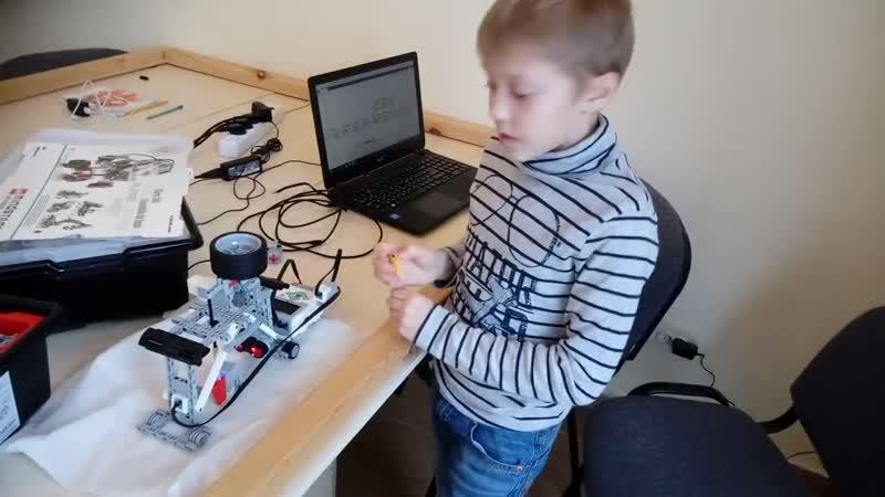 Шайнуров Веня Безопасная камнедробилка Школа робототехники Роботёнок