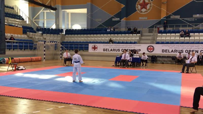 Belarus Open Cup 2019. Гумин Никита 1 круг ката