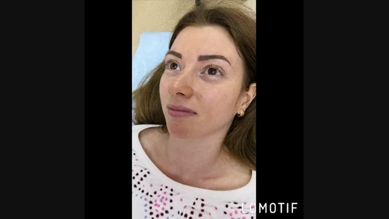 Микроблейдинг бровей в технике Slide Tap ❤️ мастер Ольга