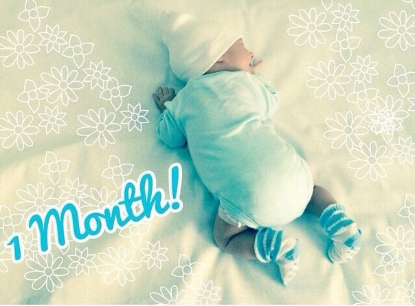 открытки с первым месяцем рождения сына развиты