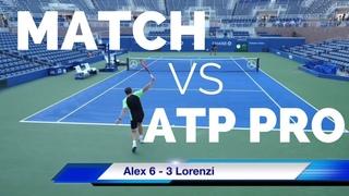 Alex vs ATP World  Tennis Match - Court Level View (HD)