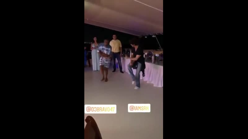 Champions DJ Bravo and SRK dancing in the cruise party at the LandOfTheChampions is the best thing ever