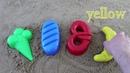 Learn Colors for Children Sand Molds Finger Family Nursery Rhymes hleb