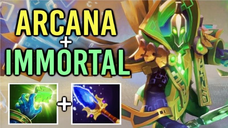 BADASS ARCANA IMMORTAL Rubick Mid Best Effect Gameplay Mega Comeback by xy Dota 2