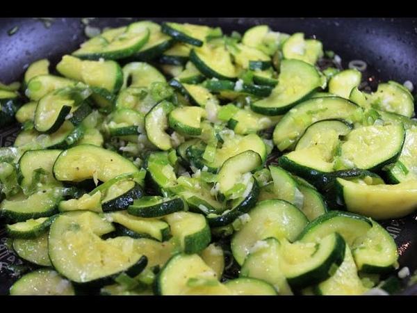 КАБАЧКИ с зеленым луком и чесноком Очень рекомендую Courgette with garlic