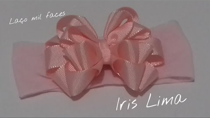 Como fazer laço mil faces ,Diy ,Tutorial ,Pap By Iris Lima