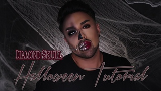Diamond Skull Halloween Tutorial | Mac Daddyy | Angel Merino