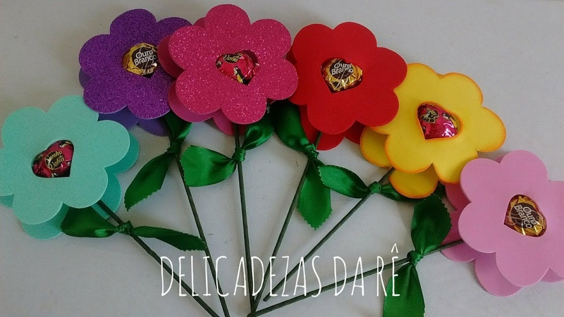 DIY Lembrancinha Dia Das Mães Porta Bombom Flor