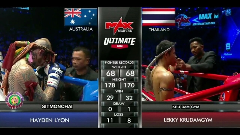 Hayden Lyon - Lekky Krudamgym, MAX MUAY THAI - Ultimate Fights