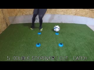 Four cone individual skill session _ improve technical ability 1