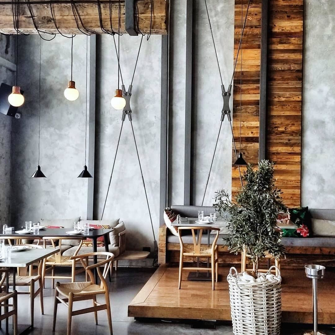 The interiors of the Ambar Bbelgrade restaurant in Serbia