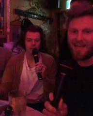 @larryig on Instagram: Harry singing 'Bohemian Rhapsody' with Bobby Berk from Queer Eye on karaoke at a gay bar in Tokyo + Karamo Brown ()