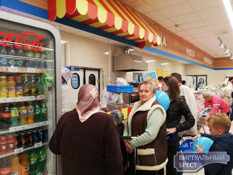 В Бресте открыли новый супермаркет «Санта» с пиццерией на ул. Мошенского