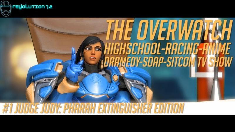 Overwatch SFM The Overwatch HRADSS TV Show 1 Judge Judy Pharah Extinguisher Edition