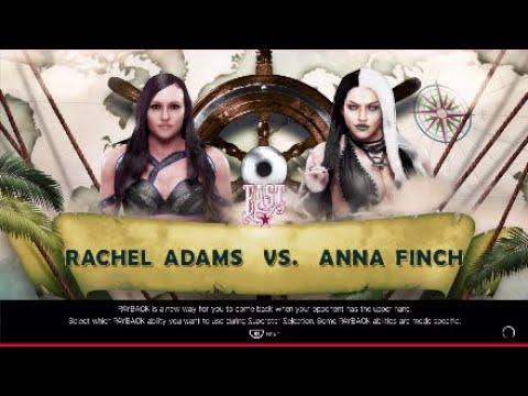 1/4 турнира Intercontinental champion. Rachel Adams vs Anna Finch.