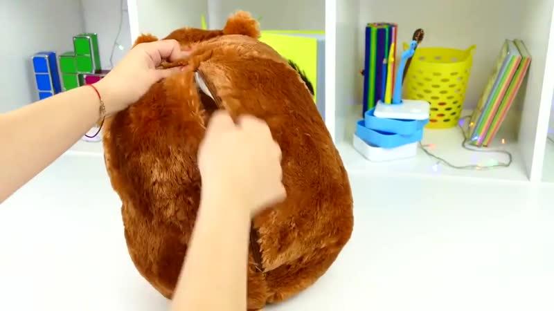 Мягкий Хомяк подушка с пледом внутри - 3 в 1