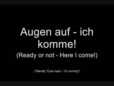 Oomph! - Augen auf! (Lyrics w/ English Translation)