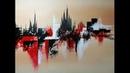 Peinture Abstraite au Couteau Speed Painting Acrylique