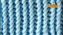 Cómo Tejer Punto Líneas Verticales en Espiral 2 agujas o palitos 682