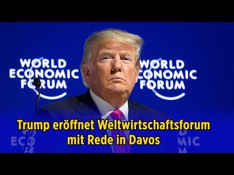 Trump eröffnet Weltwirtschaftsforum mit Rede in Davos (Originalton Englisch)