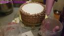 Торт для женщины, корзина с тюльпанами торт cake