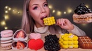 ASMR MANGO BUBBLE MOUSSE CAKE TAPIOCA PEARLS RASPBERRY LYCHEE CAKE STRAWBERRY DAIFUKU MUKBANG 먹방